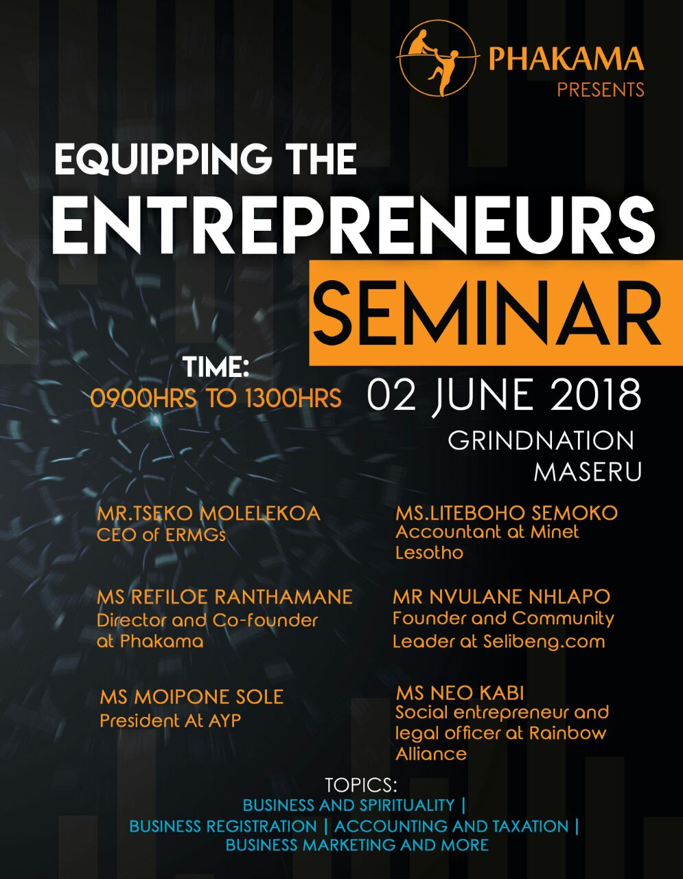 Equipping the Entrepreneurs Seminar