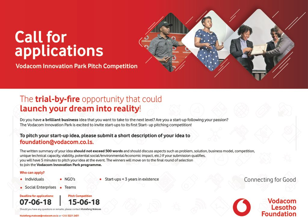 Vodacom Innovation Park Pitch Challenge