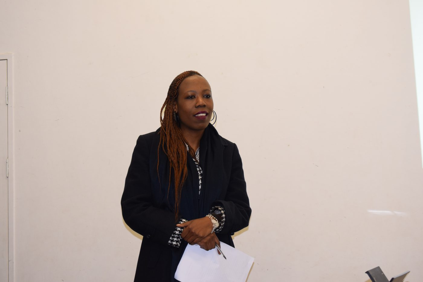 Lintle Mothetho presenting