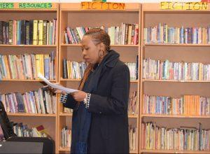 Lintle Mothetho reading her piece
