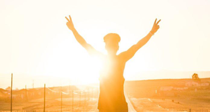 a person enjoying freedom